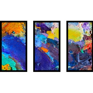 Abstract 3 Piece Framed Painting Print Set by Picture Perfect International