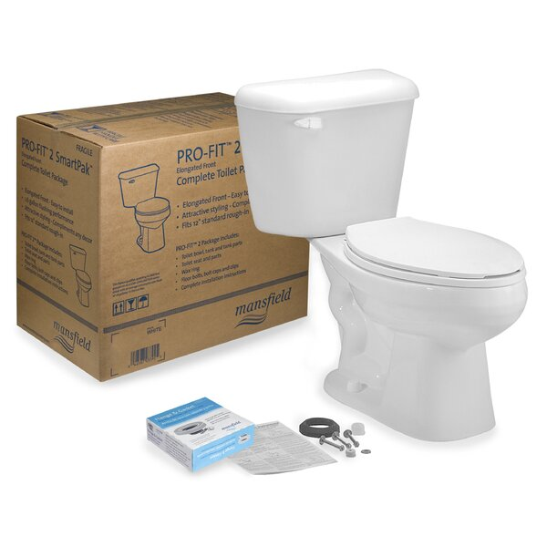 Pro-Fit 2 1.28 GPF Elongated Two-Piece Toilet by Mansfield Plumbing Products