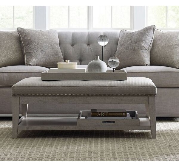 Cinema Tufted Cocktail Ottoman by Rachael Ray Home