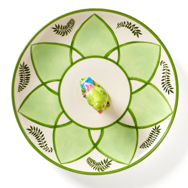 Parrotdise Canape Platter by Lynn Chase Designs