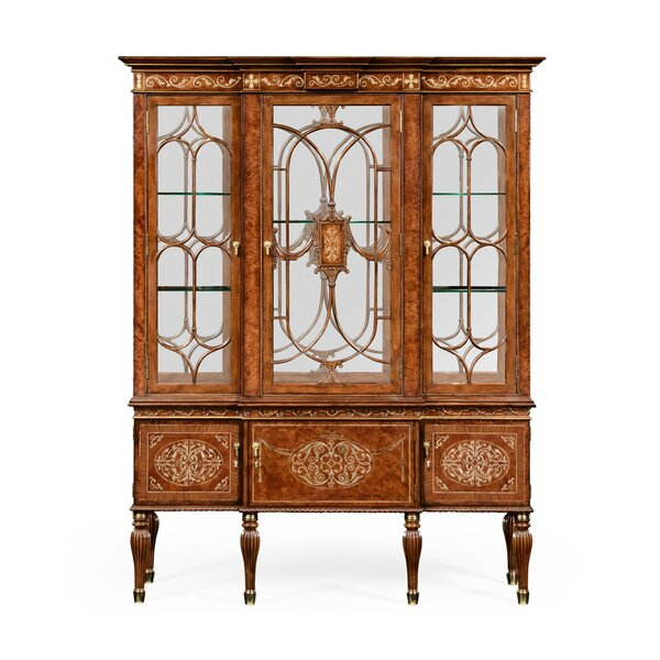 Duchess Burl and Mother of Pearl Lighted China Cabinet by Jonathan Charles Fine Furniture