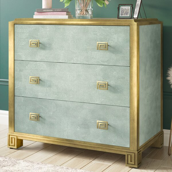 Fontaine Glam 3 Drawer Chest by Willa Arlo Interiors