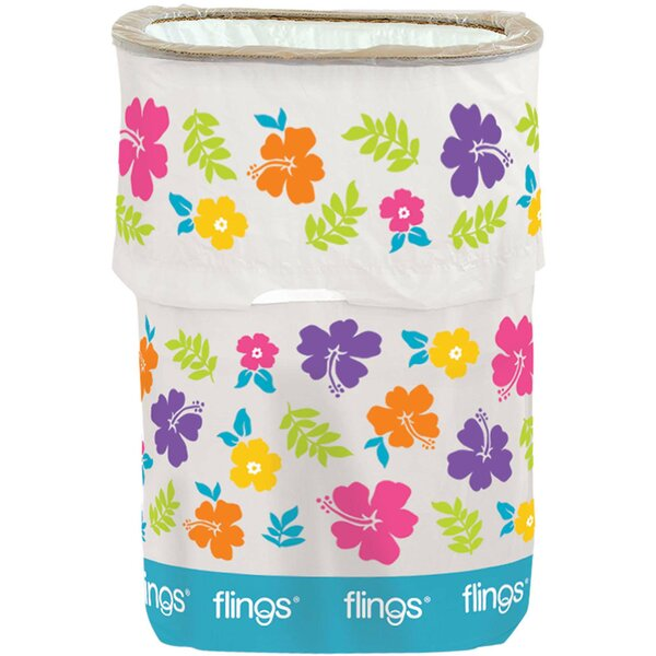 Summer Hibiscus Fling 13 Gallon Trash Can by Amscan