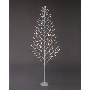 4ft artificial christmas tree with 96 clearwhite lights white and warm white