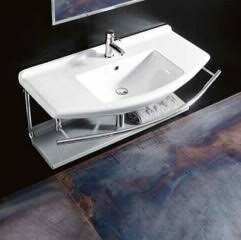 Find Topazio Ceramic Ceramic Rectangular Vessel Bathroom Sink with Overflow By WS Bath Collections