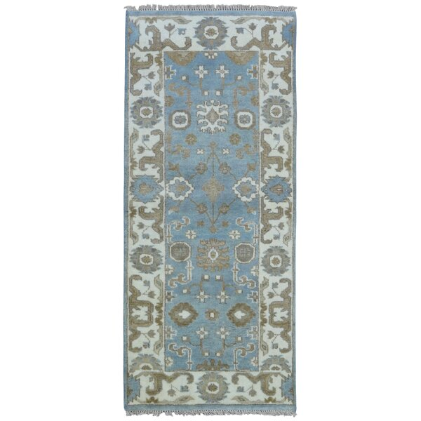 Mitchel Rectangle Hand Woven Wool Blue/Beige Area Rug by Darby Home Co