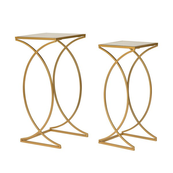 Huguenot 2 Piece Nesting Tables By Mercer41
