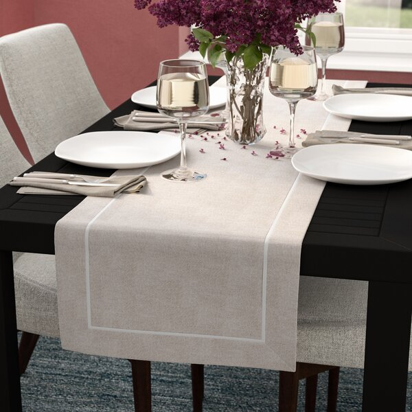 Meraz Chic Pleated Design Table Runner by Mercury Row