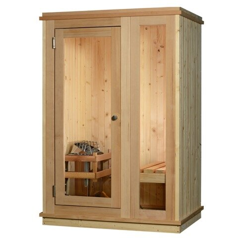 Logan 1 Person Traditional Steam Sauna by Almost Heaven Saunas LLC