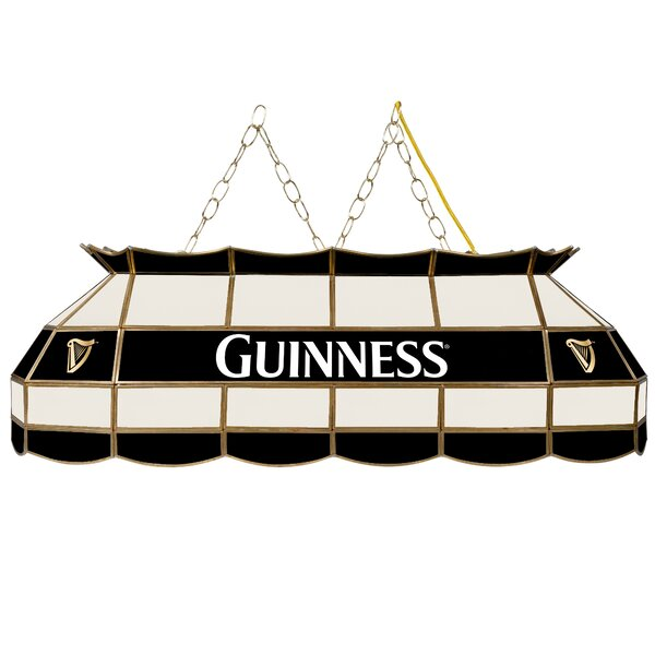 Guinness Stained Glass 3-Light Pool Table Light by Trademark Global