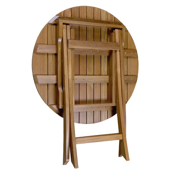 Rothsay Folding Teak Side Table by Highland Dunes