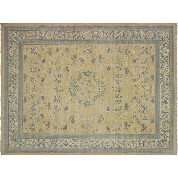 Xenos Hand-Knotted Wool Beige/Ivory Area Rug by Astoria Grand