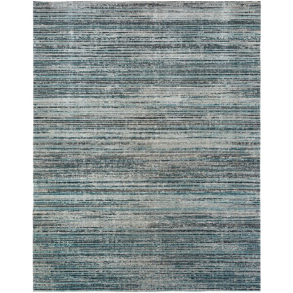 Bump Blue/Light Gray Indoor/Outdoor Area Rug by Wrought Studio