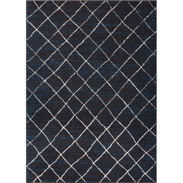 Preece Modern Moroccan Royal Blue Area Rug by Wrought Studio