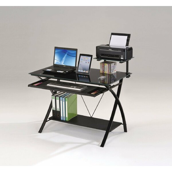 Wilmer Home Office Computer Glass Desk