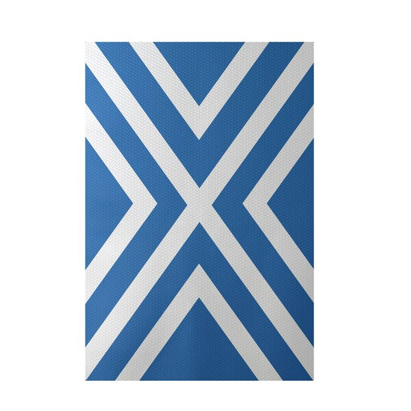 Stripe Blue Indoor/Outdoor Area Rug by e by design