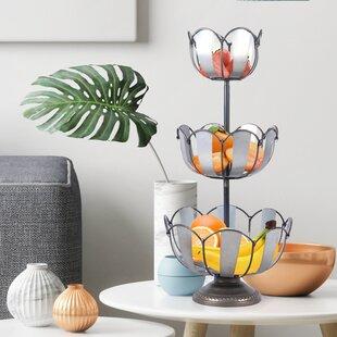 3 Tier Fruit Metal Basket Set