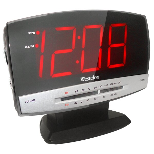 1.8 LED Radio Alarm Clock by Westclox Clocks