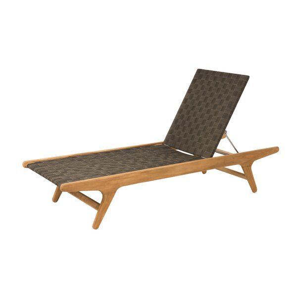 Staci Reclining Teak Chaise Lounge by Corrigan Studio