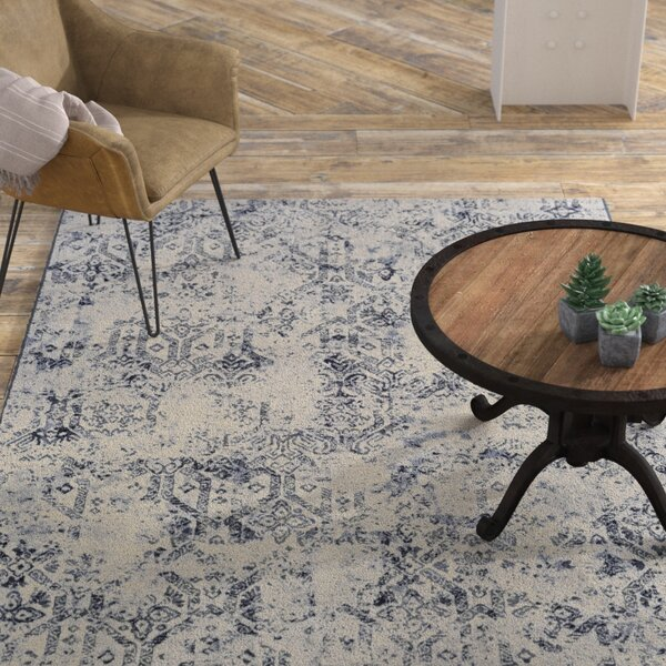 Andover Woven Blue/Gray Area Rug by Williston Forge