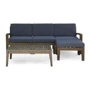 Stourbridge 5 Piece Sectional Seating Group By Highland Dunes