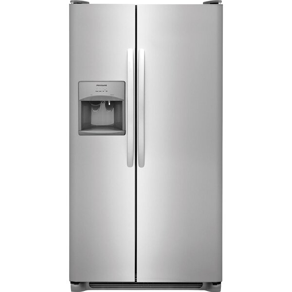 22.1 Cu ft. Side-by-Side Refrigerator with LED Lighting by Frigidaire