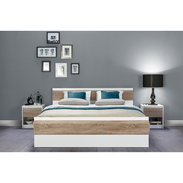Midgett Queen Platform Bed with Mattress by Wrought Studio