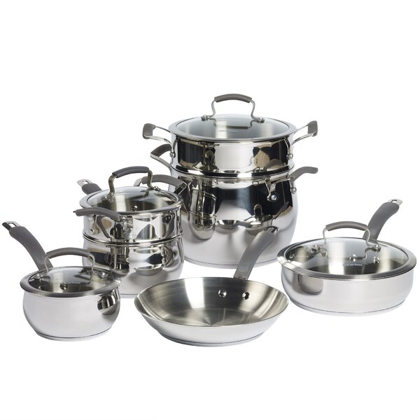 11 Piece Stainless Steel Cookware Set by Epicurious