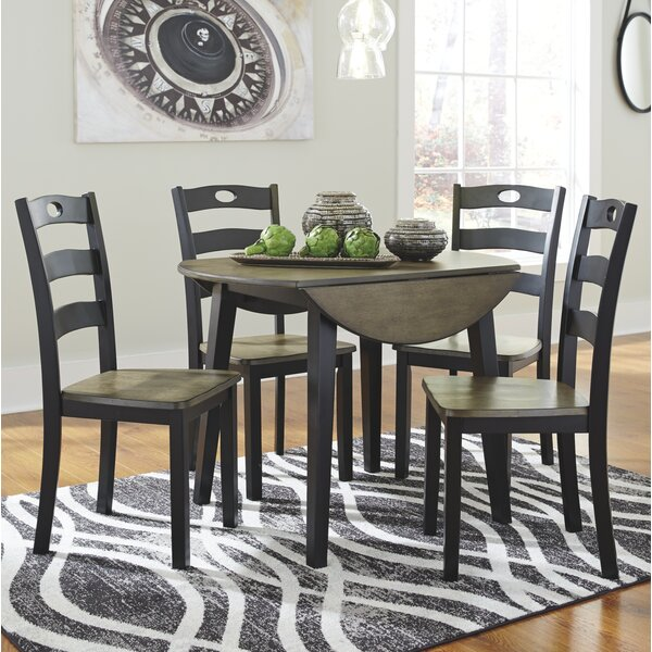 Penzance 5 Piece Drop Leaf Dining Set by Three Posts