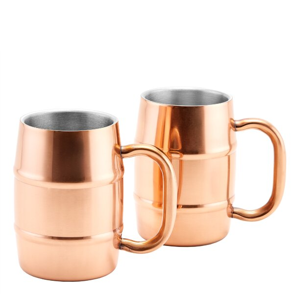 KeepKool® Double Walled Stainless Steel 16.9 oz. Moscow Mule Mug (Set of 2) by Old Dutch International