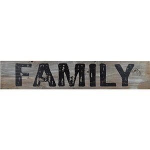 'FAMILY' Textual Art Print on Wood by Gracie Oaks