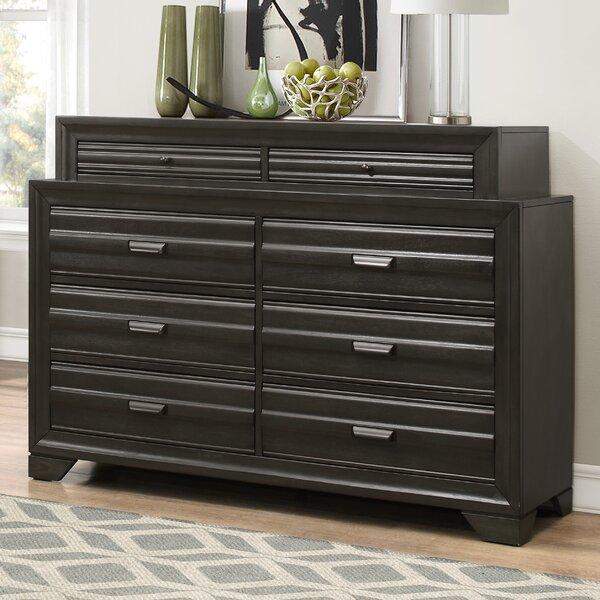 Blasco Wood 8 Drawer Standard Dresser/Chest by World Menagerie