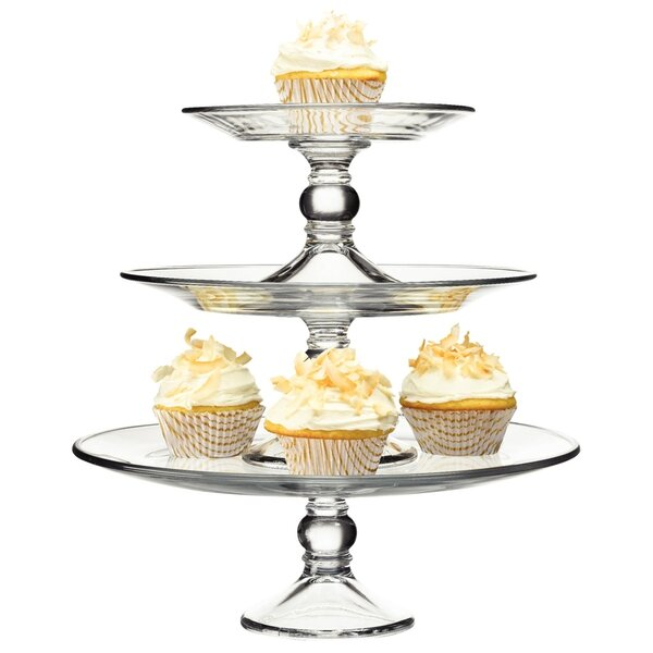 Selene 3 Tier Glass Platter by Libbey