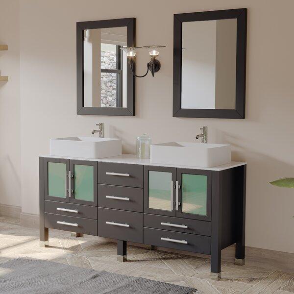 Aspen 64 Double Bathroom Vanity Set with Mirror by Cambridge Plumbing