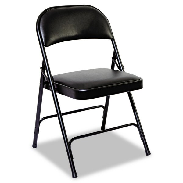 Steel Folding Chair with Padded Back and Seat (Set of 4) by Alera®