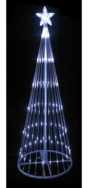 lb international led light show cone christmas tree lighted yard art decoration reviews wayfair - Spiral Lighted Christmas Tree