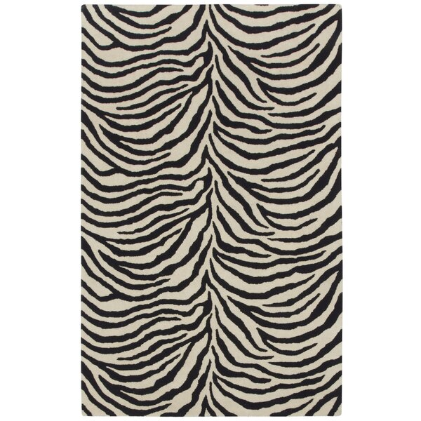 Expedition Black/White Zebra Area Rug by Capel Rugs