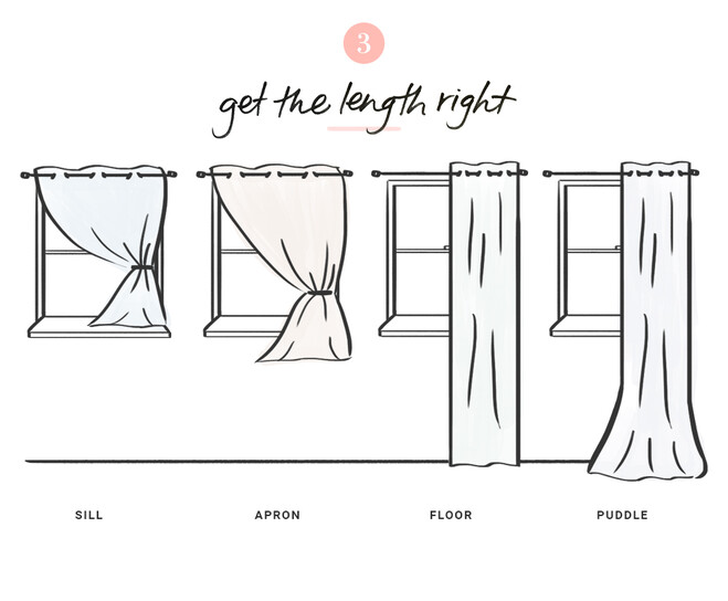 Now That Youve Squared Away Style Its Time To Tackle Length Our General Rule Short Curtains Work Well In Casual Spaces While Longer Look Best
