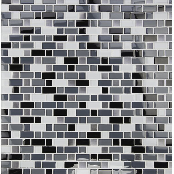 Crystal Cove Blend Glass Mosaic Tile in White by MSI
