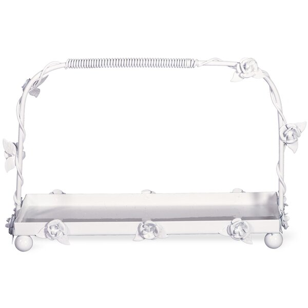 Haugh Contemporary Metal Tray by August Grove