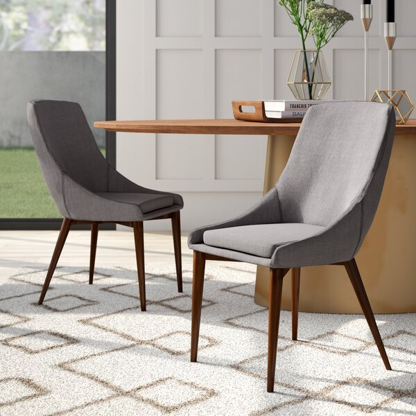 Cleland Upholstered Dining Chair (Set of 2) by Mercury Row