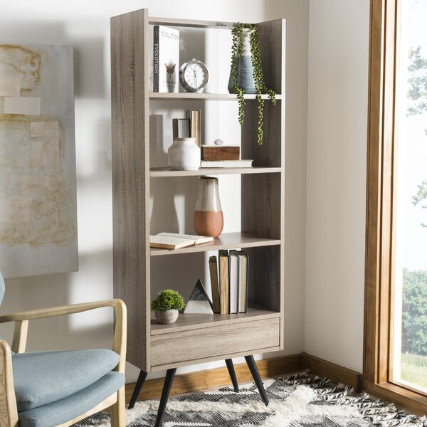 Sterling Retro Mid Century Wood Standard Bookcase by Langley Street