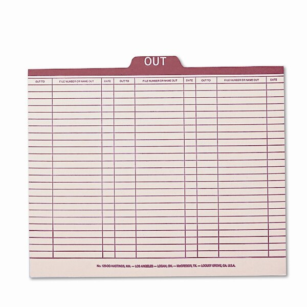 Charge-Out Record Guides, Letter, 100/Box by Smead Manufacturing Company