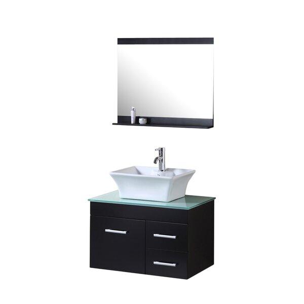 Newcastle 30 Single Bathroom Vanity Set with Mirror by Brayden Studio