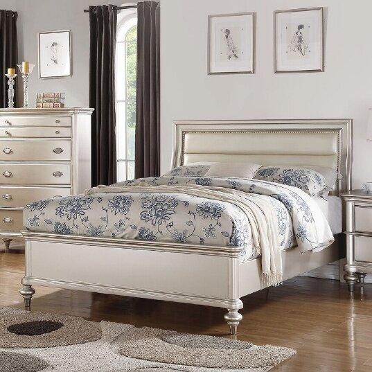 Tiya Upholstered Standard Bed by House of Hampton