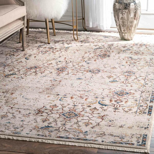 Artvin Ivory Area Rug by World Menagerie