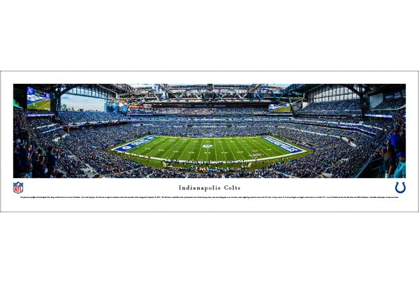 NFL Indianapolis Colts 50 Yard Line Photographic Print by Blakeway Worldwide Panoramas, Inc