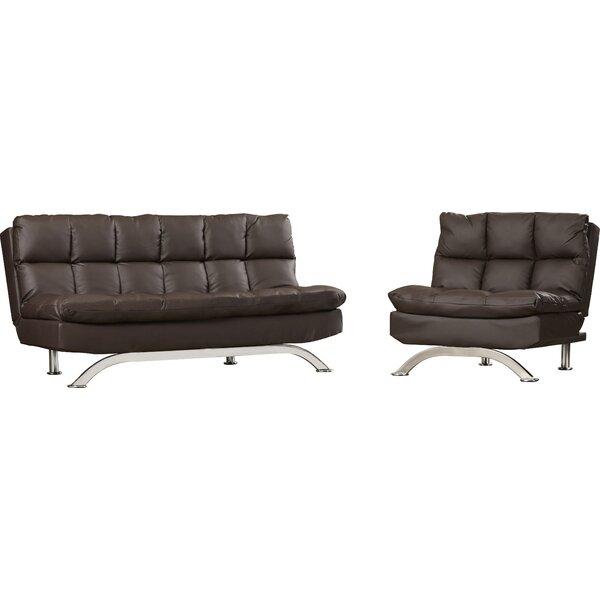 Pennock Sleeper Leather Configurable Living Room Set by Latitude Run