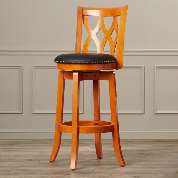 Marblehead 29 Swivel Bar Stool by Alcott Hill