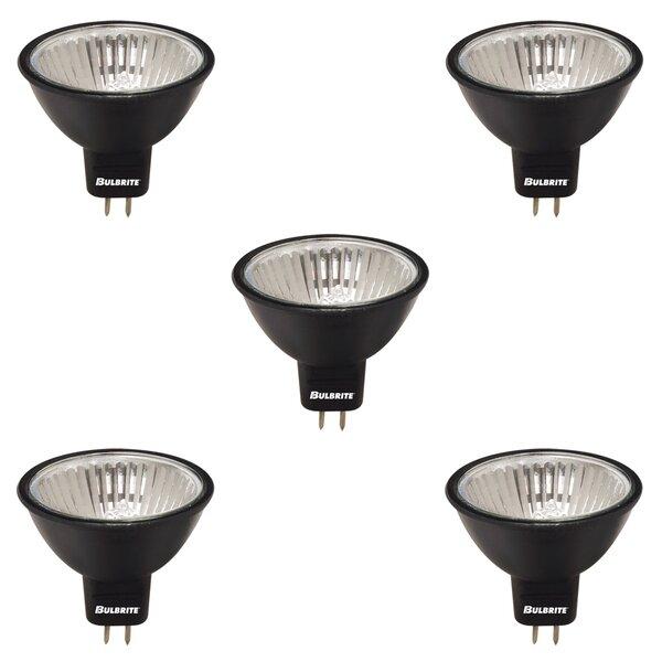 50W GU5.3 Dimmable Halogen Spotlight Light Bulb Black (Set of 5) by Bulbrite Industries